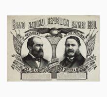 Grand national Republican banner 1880 - 1880 One Piece - Short Sleeve