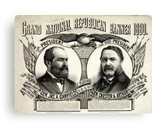 Grand national Republican banner 1880 - 1880 Canvas Print