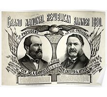 Grand national Republican banner 1880 - 1880 Poster