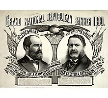 Grand national Republican banner 1880 - 1880 Photographic Print
