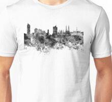 Vienna skyline in black watercolor  Unisex T-Shirt