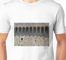 Stone wall with small structural arches Unisex T-Shirt