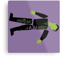 Anatomy of a Monster: Frankenstein Metal Print