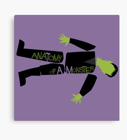Anatomy of a Monster: Frankenstein Canvas Print