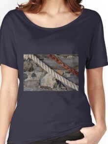 Stone texture with rope and steel chain Women's Relaxed Fit T-Shirt