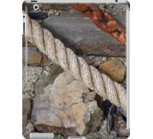Stone texture with rope and steel chain iPad Case/Skin