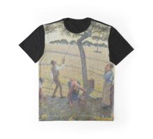 Apple Harvest ,  Camille Pissarro (French, ) Graphic T-Shirt