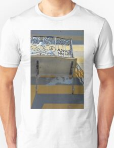 Balcony detail with thin metal decoration Unisex T-Shirt