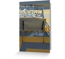 Balcony detail with thin metal decoration Greeting Card