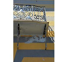 Balcony detail with thin metal decoration Photographic Print