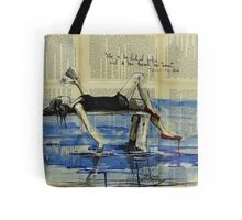 She Is Too Fond of Books Tote Bag