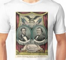 Grand national union banner for 1864. Liberty, union and victory - 1864 Unisex T-Shirt