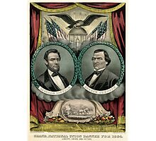 Grand national union banner for 1864. Liberty, union and victory - 1864 Photographic Print