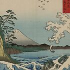 TIR-FA-Japan Print - Wave - Suruga Satta no kaijō - Hiroshige by imageresource