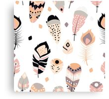Tribal feather pattern 020 Canvas Print