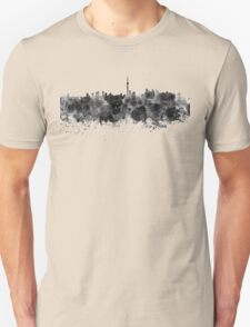 Toronto skyline in black watercolor Unisex T-Shirt
