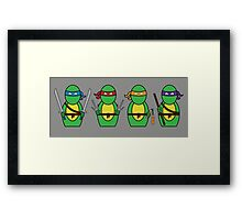 Teenage Mutant Ninja Turtles (without quote) Framed Print
