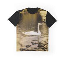 Swan In Golden Light Graphic T-Shirt