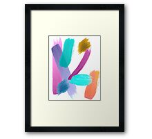 Abstract Watercolor Art Framed Print