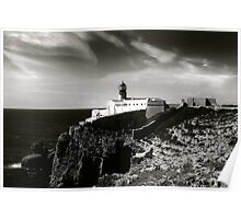 Cabo san Vicente, Portugal Black and White Poster