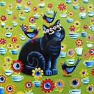 Iris in the Tea Garden by vickymount