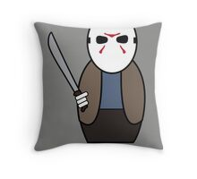 Friday the 13th (with quote) Throw Pillow