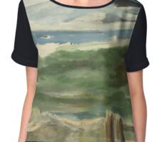 Look Out to the Sea Chiffon Top