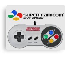 Super Famicom controller and logo Canvas Print
