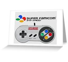 Super Famicom controller and logo Greeting Card