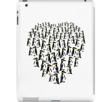 Penguins Clustered into a Heart iPad Case/Skin