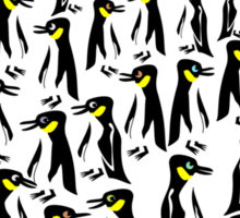 Penguins Clustered into a Heart Sticker