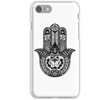Black Lotus Hamsa iPhone Case/Skin