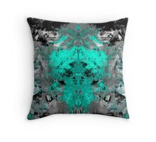 abstract teal/grey Throw Pillow