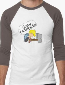 Code! Code! Code! Men's Baseball ¾ T-Shirt