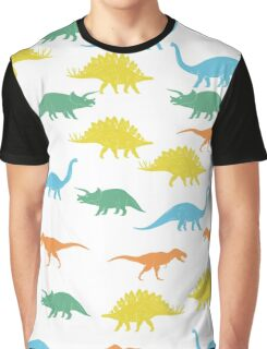 Colorful Dinosaurus Seamles Pattern Background Graphic T-Shirt