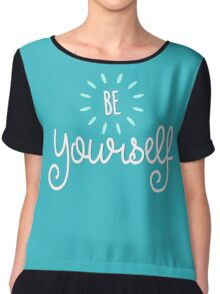 Be Yourself Step Up Speak Up - Cute Graphic T shirt for Men Women and Kids Chiffon Top