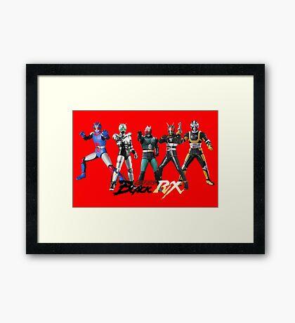 kamen rider evolution Framed Print
