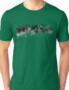 Rotterdam skyline in black watercolor Unisex T-Shirt
