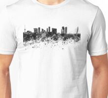 Rotterdam skyline in black watercolor Unisex T-Shirt