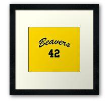 Go Beavers! Framed Print