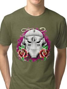 traditional alphonse elric helmet Tri-blend T-Shirt