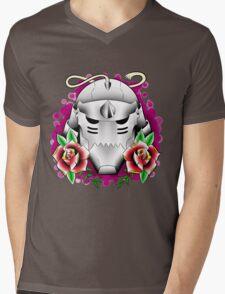 traditional alphonse elric helmet Mens V-Neck T-Shirt