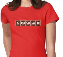 C.Ho.Co.La.Te (Chocolate spelled with Periodic Table) Womens Fitted T-Shirt
