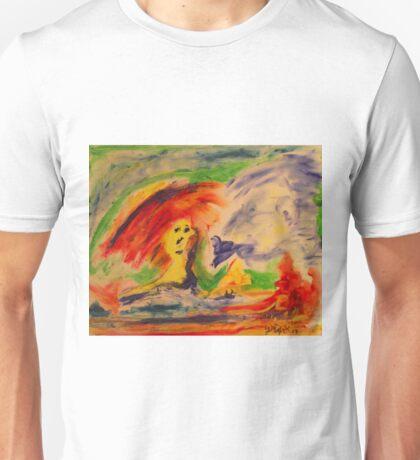 Blew Bird by Darryl Kravitz Unisex T-Shirt
