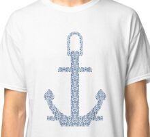 Abstract Anchor Silhouette with Pattern Classic T-Shirt