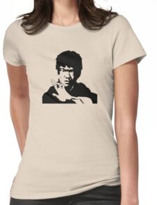 Bruce Lee Simple Womens Fitted T-Shirt