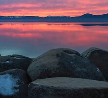 Fire Sky! (Lake Tahoe) by Richard Thelen