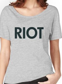 Riot (black) Women's Relaxed Fit T-Shirt