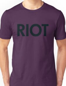 Riot (black) Unisex T-Shirt