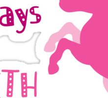 down with Mondays up with unicorns Sticker